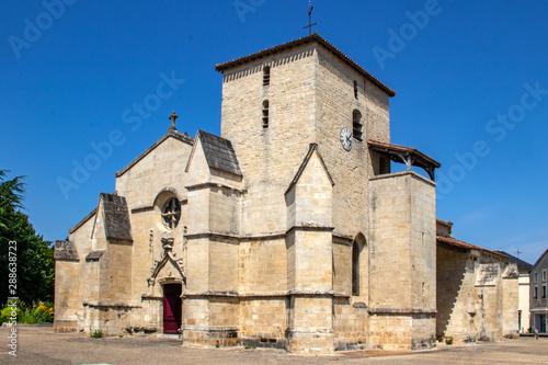 Photo sur Toile Les Textures Coulon. Eglise sainte trinité. Deux-Sèvres, Poitou-Charentes