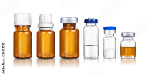 Photo ampoules and medical bottles set 2