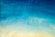Hand Painting Blue Yellow Gradient Sky Background