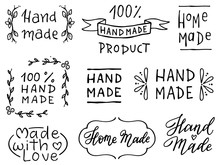 Set Of Hand Drawn Simple Phras...