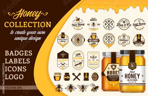Carta da parati Vector honey collection