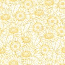 Sunflower Seamless Pattern. Ve...