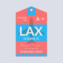 Los Angeles Luggage Tag. Airpo...