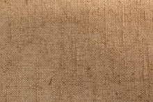Old, Rough Hand-made Fabric, Burlap Or Canvas, Natural Fibers And Color, Linen Background