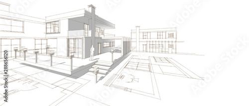 projekt-szkic-domu-3d-ilus