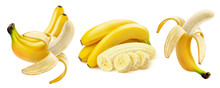 Banana Isolated On White Backg...