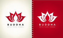 Buddha And Lotus Flower Logo V...