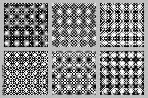 Square pattern background set - abstract vector graphic designs from squares Canvas Print