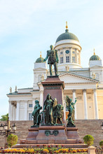 Helsinki, Finland. Monument To Alexander II Was Opened In 1894, In Memory Of The Restoration Of Finnish Parliamentarism By Emperor Alexander II