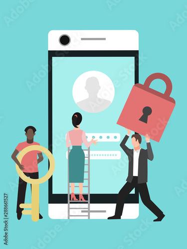 Fotografía  Mobile data protection