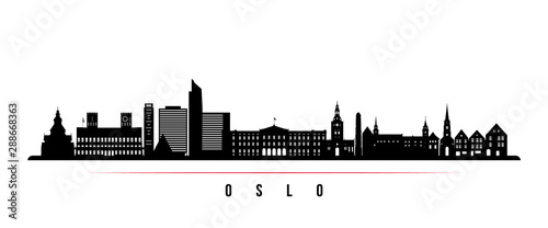 Oslo City skyline horizontal banner Canvas Print