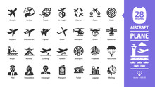 Aircraft Icon Set With Flight ...