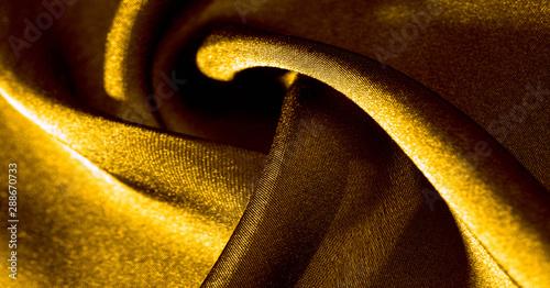 Photo Background, pattern, texture, wallpaper, yellow silk fabric
