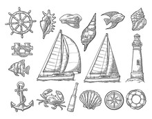 Anchor, Wheel, Sailing Ship, C...