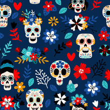 Day Of The Dead Pattern. Dia D...