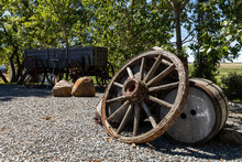An Old And Historic Wheel Of A Cart