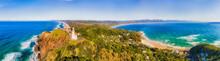 D Byron Lighthouse CLose Pan Inland