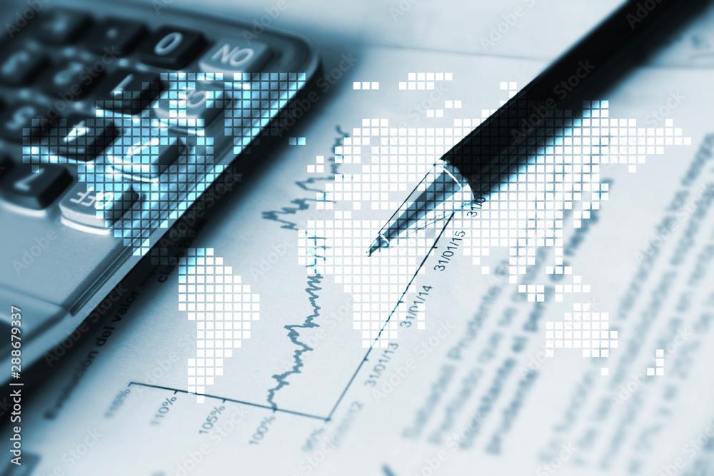 Fototapety, obrazy: penna, contabilità, commercialista, economia, finanza