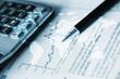 canvas print picture - penna, contabilità, commercialista, economia, finanza