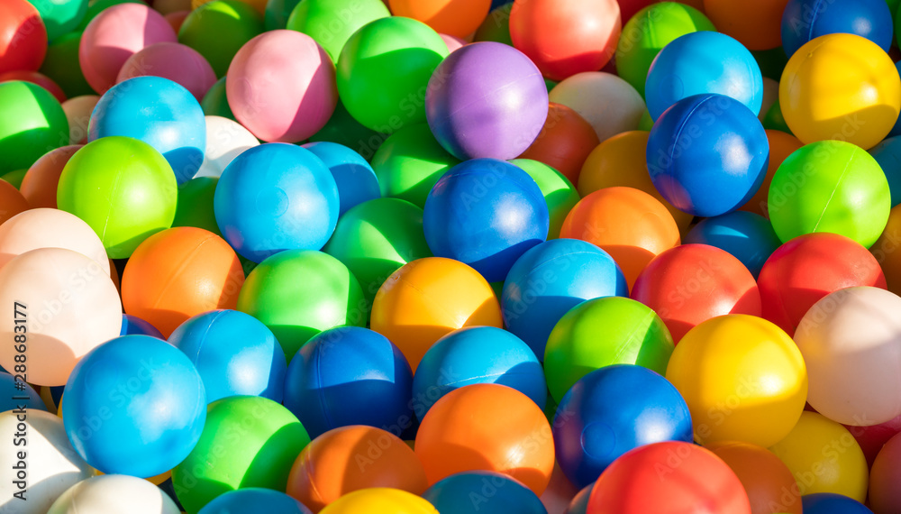 Fototapety, obrazy: Background with colored balls. Yellow blue red orange