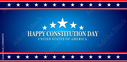 Fotografia Constitution day badge logo icon