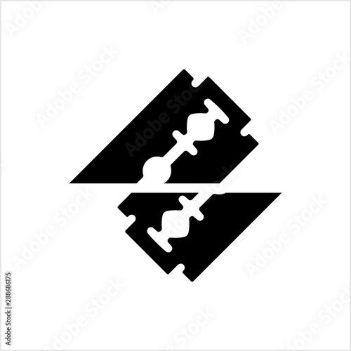 Leinwand Poster Razor Blade Icon