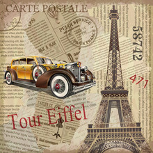 Vintage Poster Paris Torn News...