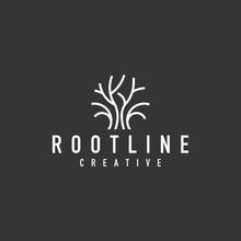 Tree Root Logo - Vector Illust...