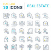 Set Vector Line Icons of Real Estate