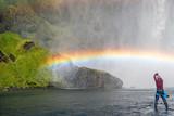 Fototapeta Rainbow - Skógafoss Waterfall rainbow - Iceland