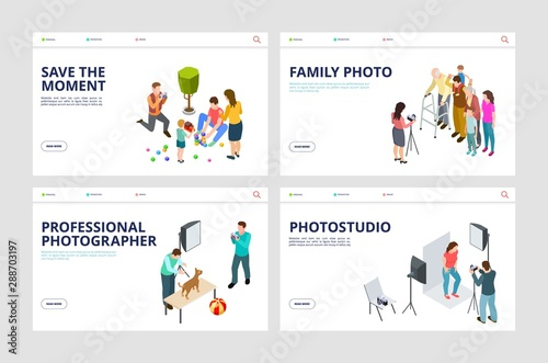 Photo shoot landing pages Wallpaper Mural
