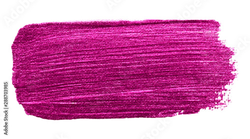 Vector pink metallic paint texture isolated on white - acrylic banner for Your design