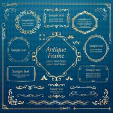 カリグラフィーフレーム 広告 パンフレット カードデザイン