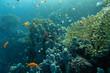 Korallengarten mit bunten Fischen