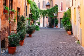 Fototapeta na wymiar street in Trastevere, Rome, Italy