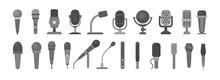 Microphone Icon. Audio Technol...