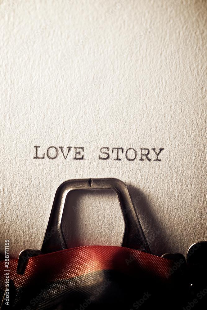 Fototapeta Love story concept