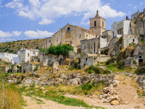 Fotomural  Ancient ruins in Ginosa, Apulia, south Italy