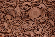 Texture Of Clay Shards.Fragmen...