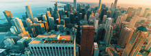 Chicago Cityscape Skyline At S...