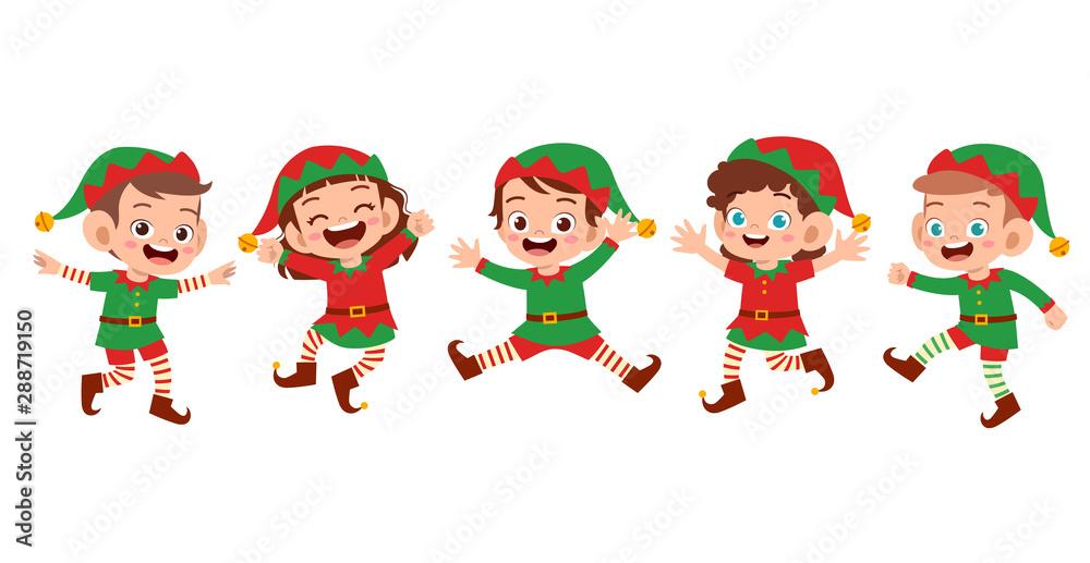 Fototapety, obrazy: happy kids smile laugh expression set