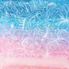 sfondo bello acquerello floreale rosa azzurro