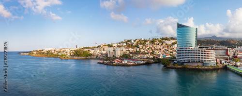 Im Hafen von Fort de France auf der Insel Martinique- ein Panorama Wallpaper Mural