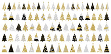 Christmas Tree On White Background Vector Illustration