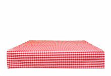 Isolated Red Checkered Tablecloth