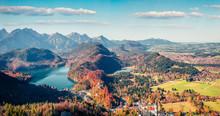 Aerial Autumn Panorama Of Alte...