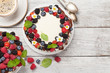 Leinwanddruck Bild - Chocolate cakes with berries