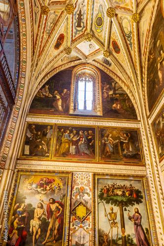 Obraz na plátně  Visit to the Cathedral of Segovia