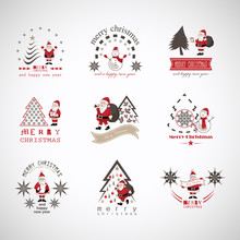 Christmas Icons And Elements S...