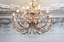 Luxurious Vintage Chandelier In The Interior Close-up